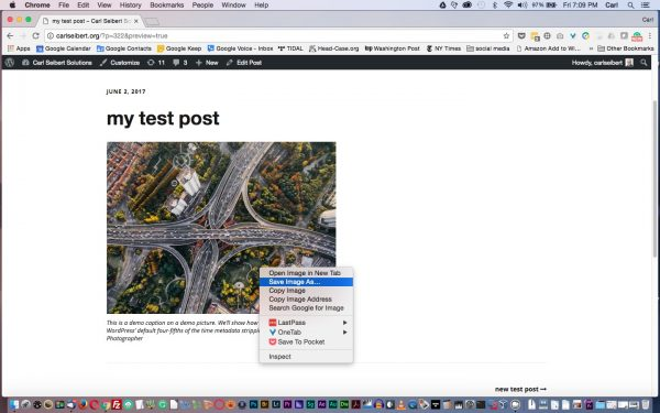 Download a picture from your WordPress site to check that the process worked.