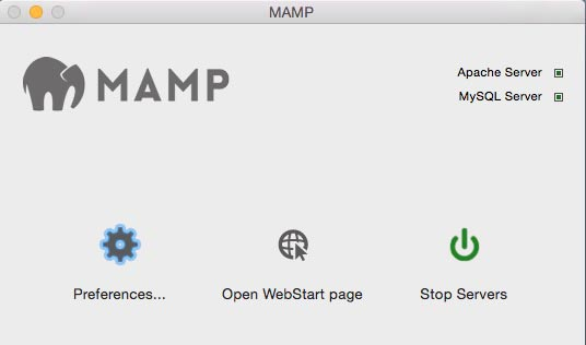 MAMP interface