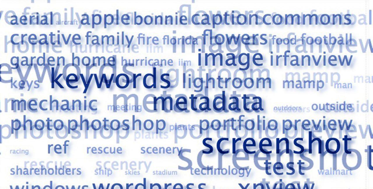Photo illustration showing keyword cloud