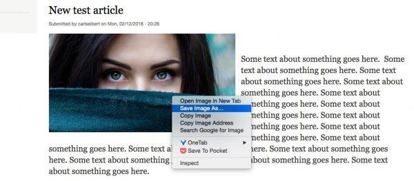 Downloading test image