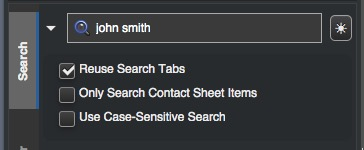 A simple search in the search box
